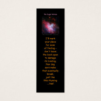 Eagle Nebula, Messier 16, NGC 6611 - bookmarks Mini Business Card
