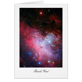 Eagle Nebula, Messier 16, Saying Thank You Greeting Card