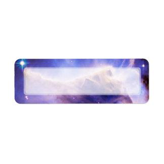 Eagle Nebula Pillar Detail Hubble Return Address Label