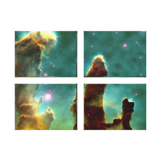 Eagle Nebula Pillars in Beautiful Outerspace Stretched Canvas Print