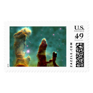 Eagle Nebula Pillars in Beautiful Outerspace Postage Stamp