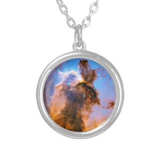 Eagle Nebula Stellar Spire NASA Hubble Space Photo Silver Plated Necklace