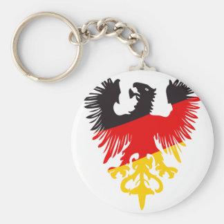 Eagle negro alemán llavero redondo tipo pin