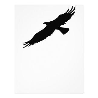 Eagle negro y blanco plantilla de membrete