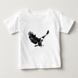 Eagle negro y blanco tshirt