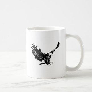 Eagle negro y blanco tazas de café