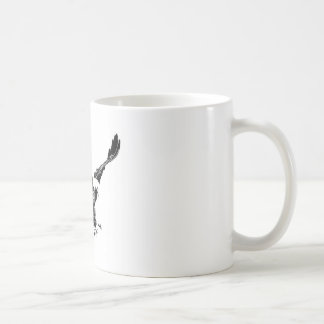 Eagle negro y blanco taza