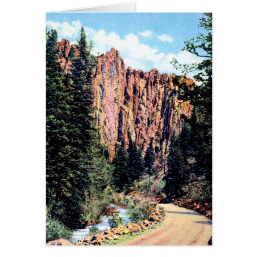 Eagle Nest New Mexico Palisades in Cimarron Canyon Cards