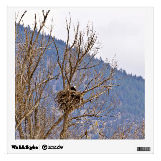 Eagle nest on tree wall graphics