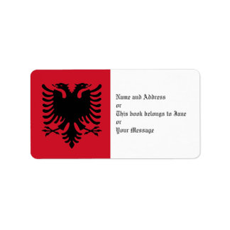 Eagle Of Albania Flag On Name Address Gift Tags