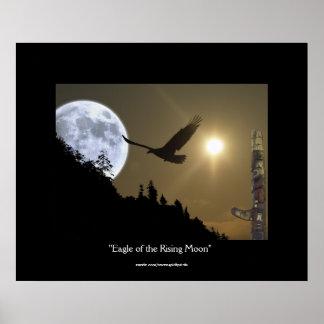Eagle of the Rising Moon Fantasy Art Poster