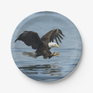 Eagle on Approach Paper Plate