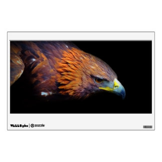 Eagle on Black Background Wall Sticker