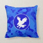 Eagle on Blue Camo; Camouflage Pillow