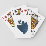 Eagle on floating island playing cards