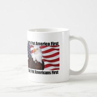 eagle on guard coffee mug