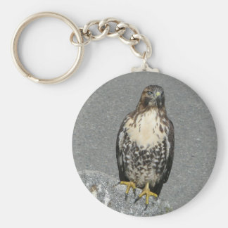 Eagle on the Rock Basic Round Button Keychain