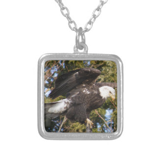 Eagle One Square Pendant Necklace