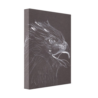 EAGLE - Original Drawing - Canvas Print