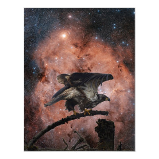 Eagle & Outer Space Invitation Cards