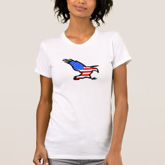 Eagle Outline with Flag Design T-Shirt