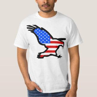 Eagle Outline with Flag Design T-Shirt