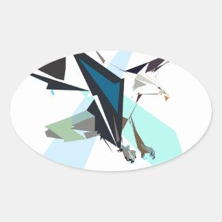 eagle oval sticker