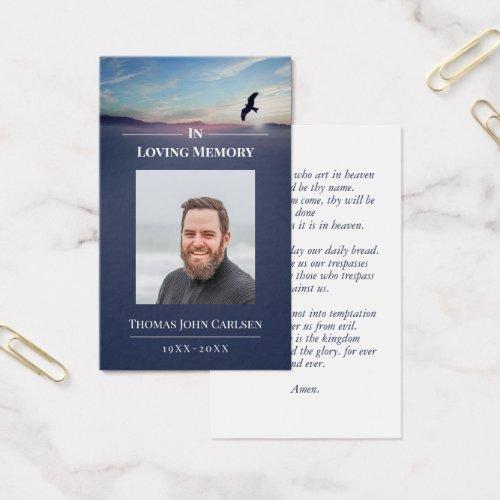 Eagle Over Mountains Blue Mini Prayer Card