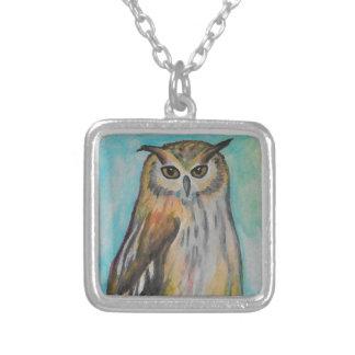 Eagle Owl Art Necklace