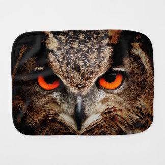 Eagle Owl Baby Burp Cloth