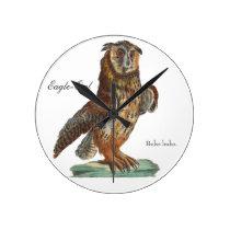 Eagle-Owl - Bubo bubo Round Clock