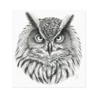 Eagle Owl by Svetlana Ledneva-Schukina G046 Canvas Prints