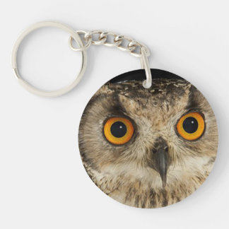 """Eagle Owl"" design gifts and products Keychain"