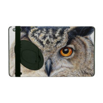 Eagle Owl face fine art portrait ipad powis case iPad Case
