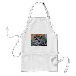 Eagle Owl Face Looking Right at You! Apron