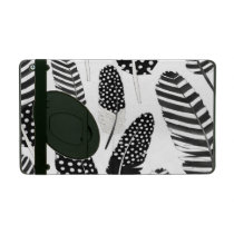 Eagle Owl Feather Pattern Watercolor Black White iPad Case