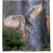 Eagle Owl Hunting Shower Curtain
