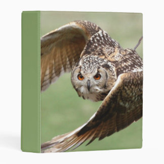 Eagle Owl In Flight Mini Binder
