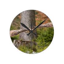 Eagle Owl in Flight Round Clock
