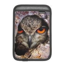 Eagle Owl iPad Mini Sleeve, Vertical iPad Mini Sleeve