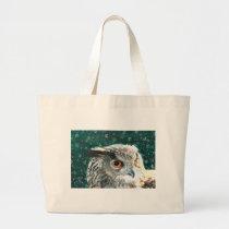 Eagle Owl Large Tote Bag