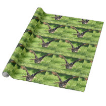 Eagle Owl Linen Wrapping Paper