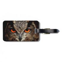 Eagle-Owl Luggage Tag
