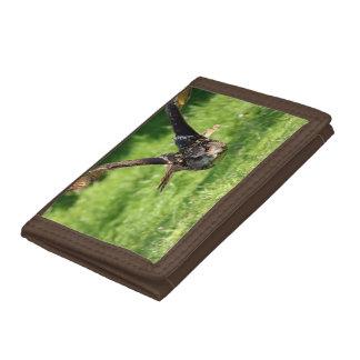 Eagle Owl Nylon Trifold Wallet