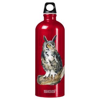 Eagle owl October watercolor SIGG Traveler 1.0L Water Bottle