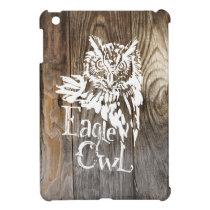 Eagle Owl old wood stencil iPad Mini Cover