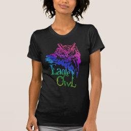 Eagle Owl Rainbow T-Shirt