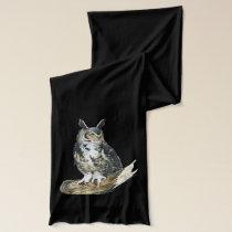 Eagle owl scarf