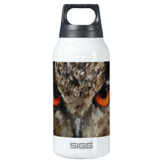 Eagle Owl 10 Oz Insulated SIGG Thermos Water Bottle