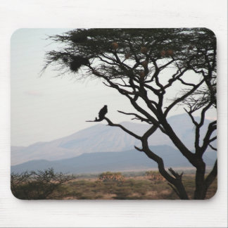 Eagle Owl Silhouette Mouse Pads